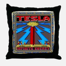 TESLA_COIL-cp Throw Pillow