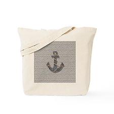 nautical anchor burlap beach decor Tote Bag