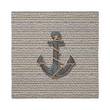 nautical anchor burlap beach decor Queen Duvet