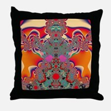 Abstract Art Red Meditation Throw Pillow