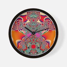 Abstract Art Red Meditation Wall Clock