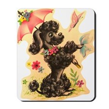 Vintage Poodle Illustration Mousepad