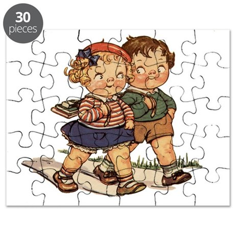 Vintage School Kids Puzzle