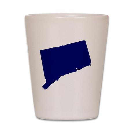 Connecticut - Blue Shot Glass
