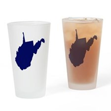 West Virginia - Blue Drinking Glass