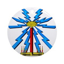 TESLA_COIL_wcp Round Ornament