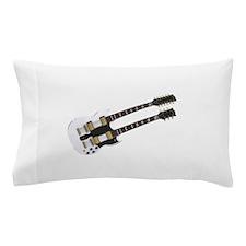 Doubleneck Guitar: White Finish Pillow Case