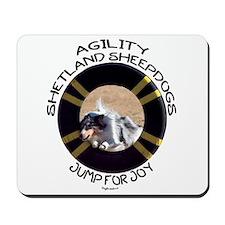Agility Shetland Sheepdogs Jump Mousepad