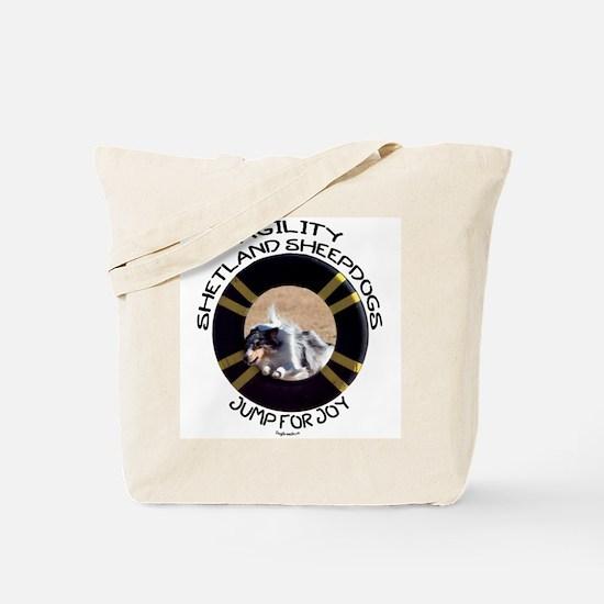 Agility Shetland Sheepdogs Jump Tote Bag