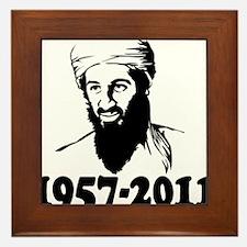 osama bin laden Framed Tile