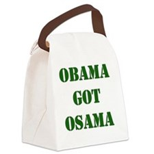 obama osama Canvas Lunch Bag