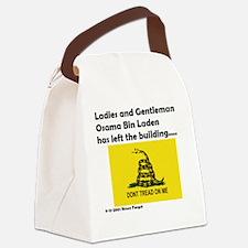 Osama Dead.gif Canvas Lunch Bag