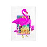 Pink flamingo 5x7 Rugs