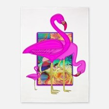 Family of Flamingos 5'x7'Area Rug