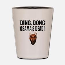 Ding Dong OSAMAs Dead Shot Glass