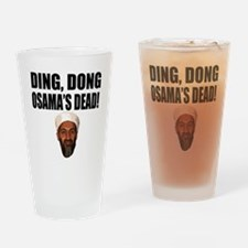 Ding Dong OSAMAs Dead Drinking Glass