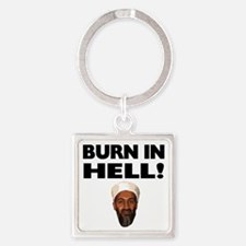Burn in Hell Square Keychain