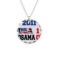 USA 1 Osama 0 for lights Necklace