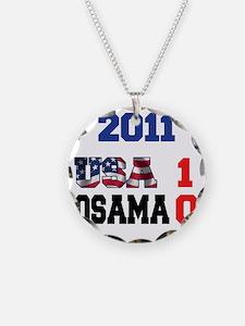 USA 1 Osama 0 for lights Necklace