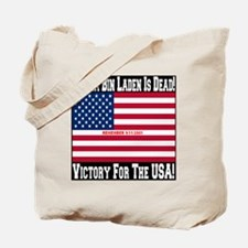 Osama_bin_laden_is_dead_Style2_black Tote Bag