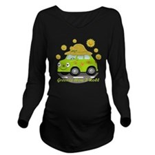 honey dark 4 copy Long Sleeve Maternity T-Shirt
