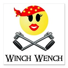 "Lotus Winch Wench final  Square Car Magnet 3"" x 3"""