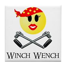 Lotus Winch Wench final print Tile Coaster