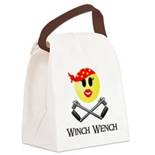 Lotus Winch Wench final print Canvas Lunch Bag