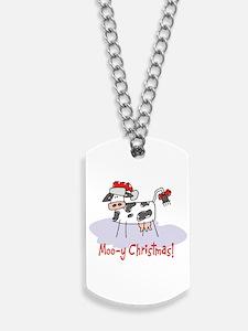 Moo-y Christmas Dog Tags