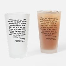 Heller Catch-22 Quote Drinking Glass