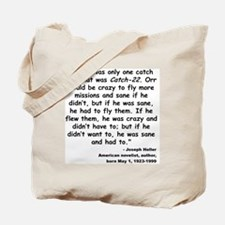 Heller Catch-22 Quote Tote Bag