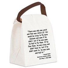 Heller Catch-22 Quote Canvas Lunch Bag