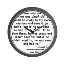 Heller Catch-22 Quote Wall Clock