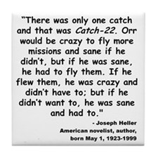 Heller Catch-22 Quote Tile Coaster