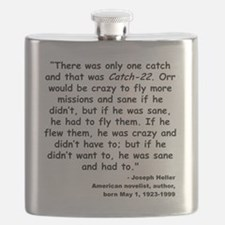 Heller Catch-22 Quote Flask
