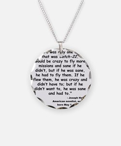 Heller Catch-22 Quote Necklace