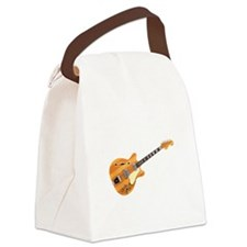 Hollow Body Electric Guitar Canvas Lunch Bag
