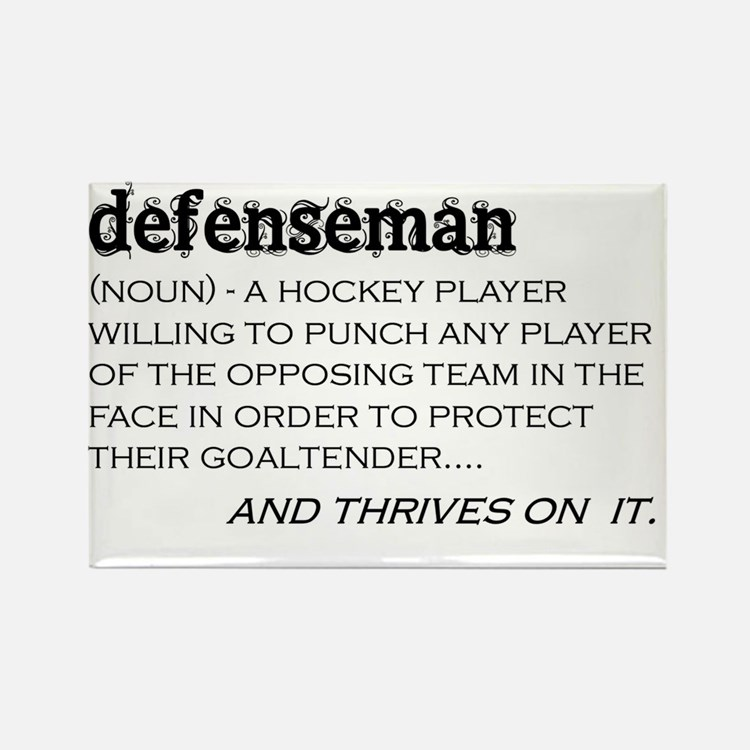 defenseman Rectangle Magnet