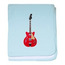 Hollow Body Electric Guitar baby blanket