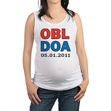 OBL DOA 3c white Maternity Tank Top