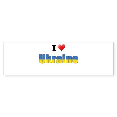 I love Ukraine Bumper Sticker