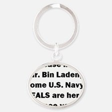 SEALS Are Here Oval Keychain