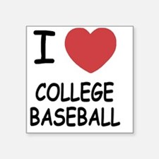 "COLLEGE_BASEBALL Square Sticker 3"" x 3"""