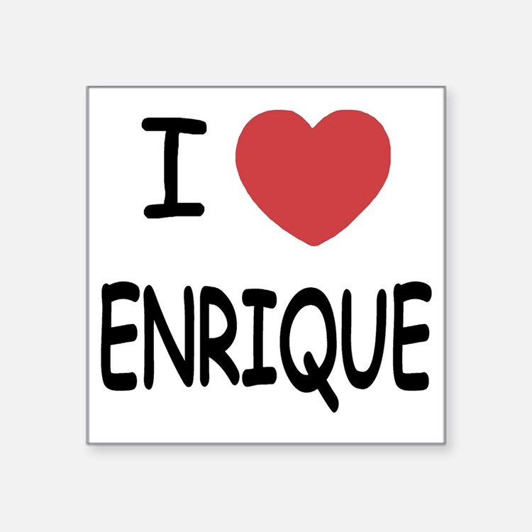 "ENRIQUE Square Sticker 3"" x 3"""
