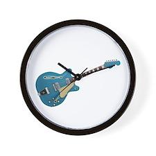 Hollow Body Electric Guitar Wall Clock