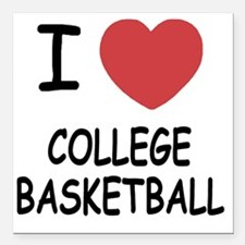 "COLLEGE_BASKETBALL Square Car Magnet 3"" x 3"""