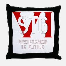 STVIBLACK Throw Pillow