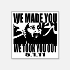"OSAMA_OUT_whiteT Square Sticker 3"" x 3"""