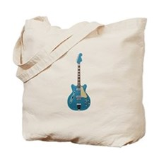 Hollow Body Electric Guitar Tote Bag