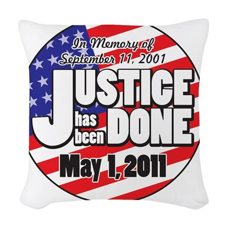 Justice_Has_Been_Done Woven Throw Pillow